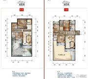公园19033室2厅2卫128--137平方米户型图