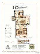 金圆上都三期3室2厅2卫107平方米户型图