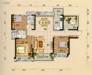 碧桂园翡翠山3室2厅2卫128平方米户型图