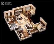 恒大御府3室2厅2卫131--148平方米户型图