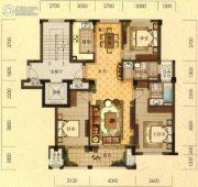 拓鑫新景家园3室2厅2卫129平方米户型图