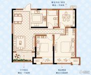 绿洲白马公馆3室2厅1卫89平方米户型图