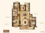 万达华府・大公馆4室2厅3卫216平方米户型图
