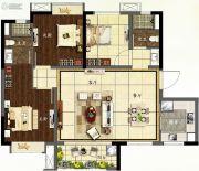 龙湖首开天宸原著3室2厅2卫97平方米户型图