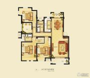 金洋奥澜半岛3室2厅2卫133平方米户型图