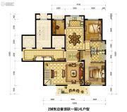 中梁翡翠滨江3室2厅3卫141平方米户型图