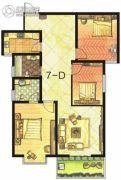 东方明珠3室2厅2卫121平方米户型图