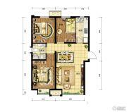 中国铁建・青秀尚城3室2厅1卫91平方米户型图
