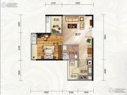 云景华庭1室1厅1卫50平方米户型图