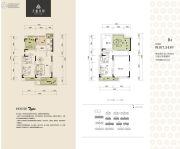 天盈首原2室2厅2卫107平方米户型图