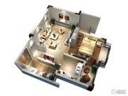 隆豪翡翠星城1室2厅1卫60平方米户型图