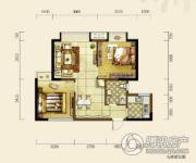 双发东城印象2室2厅1卫68平方米户型图
