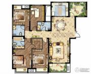 世茂香槟湖5室2厅3卫180平方米户型图