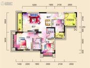 广厦城蜜宫2室2厅2卫0平方米户型图