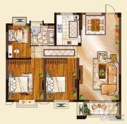 山水华庭3室2厅1卫99平方米户型图