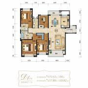仁恒滨海半岛4室2厅3卫170--180平方米户型图