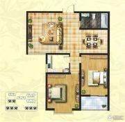 创鑫阳光城2室2厅1卫100平方米户型图