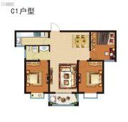 昆吾名家3室2厅1卫0平方米户型图