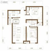 保利・领秀山2室2厅1卫83平方米户型图