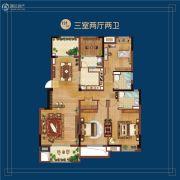 万科蓝山3室2厅2卫131平方米户型图
