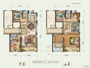 白鹿洲华府4室3厅4卫185平方米户型图