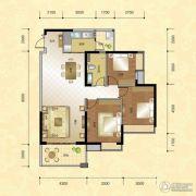 正升华府3室2厅1卫108--110平方米户型图