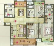 新城香溢紫郡3室2厅2卫133平方米户型图