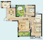 御翠园3室2厅2卫121平方米户型图