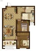 广厦・聚隆广场2室2厅1卫90平方米户型图