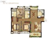 龙湖・春江悦茗3室2厅2卫125平方米户型图