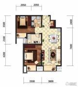 京贸国际城2室2厅1卫94平方米户型图