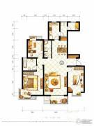 山水泉城3室2厅2卫148平方米户型图