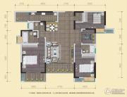 中渝山顶道国宾城3室2厅3卫136平方米户型图