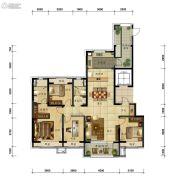 万科圣丰・翡翠之光4室2厅2卫160平方米户型图