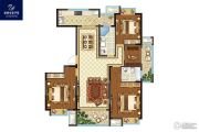 银洲皇家学苑4室2厅2卫143平方米户型图