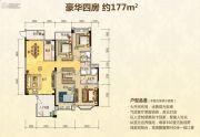 北大资源博雅滨江4室2厅3卫177平方米户型图