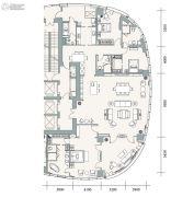 成都银泰中心华悦府4室2厅4卫366平方米户型图
