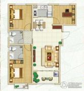 林荫春天3室2厅2卫106平方米户型图