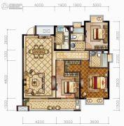 中梁・悦荣府3室2厅2卫125平方米户型图