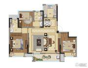 弘阳禹洲时光春晓4室2厅2卫108平方米户型图