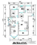 君尚一品小区二期2室2厅2卫121平方米户型图
