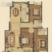 凤凰和润3室2厅2卫129平方米户型图