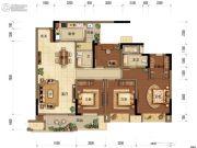 中海阅江阁3室2厅1卫110平方米户型图