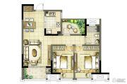 启迪方洲2室2厅1卫82--87平方米户型图