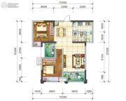 阳光西雅图2室2厅1卫96平方米户型图