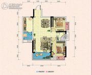 凯富南方鑫城2室2厅1卫79平方米户型图