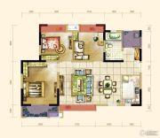大成郡3室2厅1卫98平方米户型图
