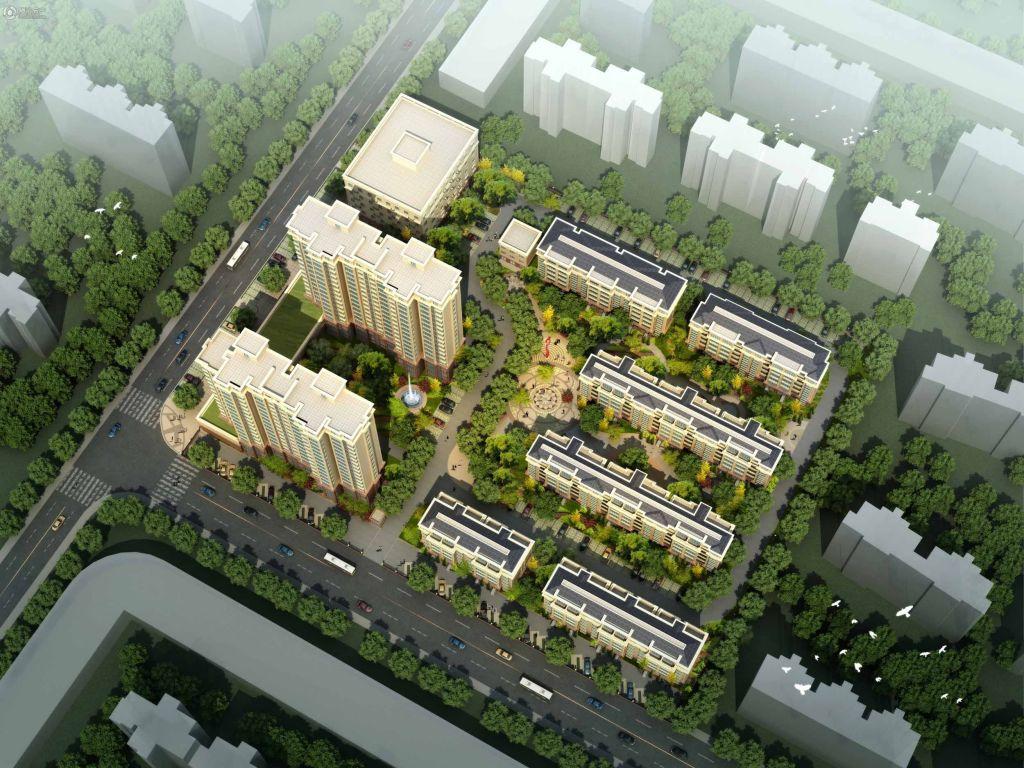 浦江花园项目鸟瞰图(2014-10)