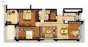 中企艮山府3室2厅1卫88平方米户型图