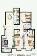 实创花园3室2厅2卫139平方米户型图